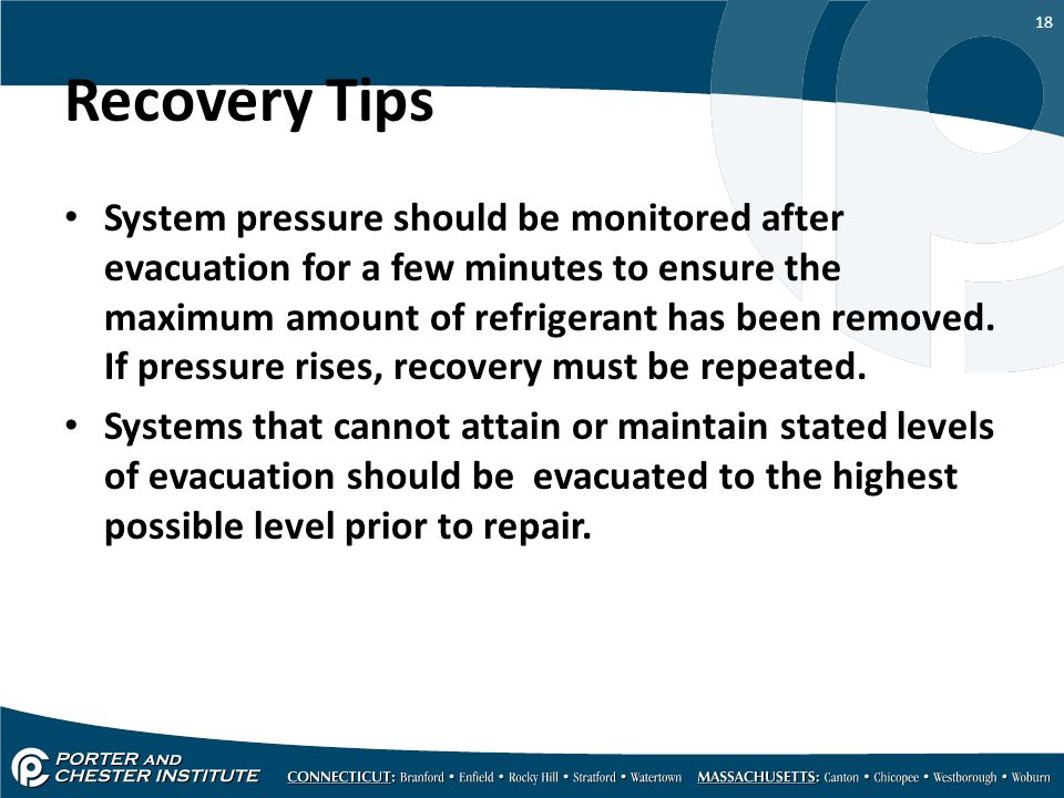 Recovery Tips