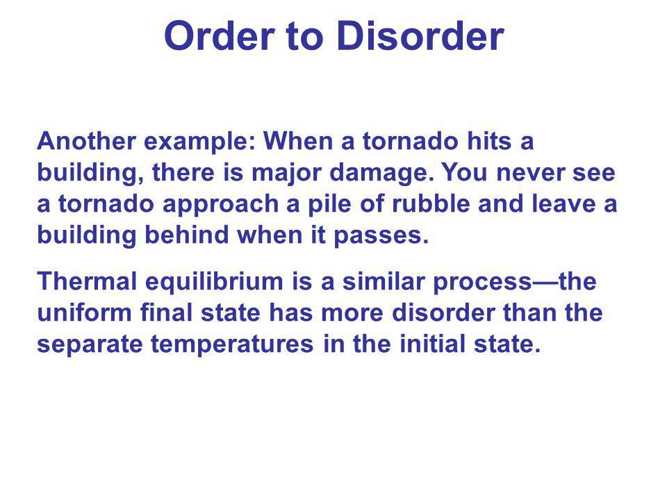 Order to Disorder