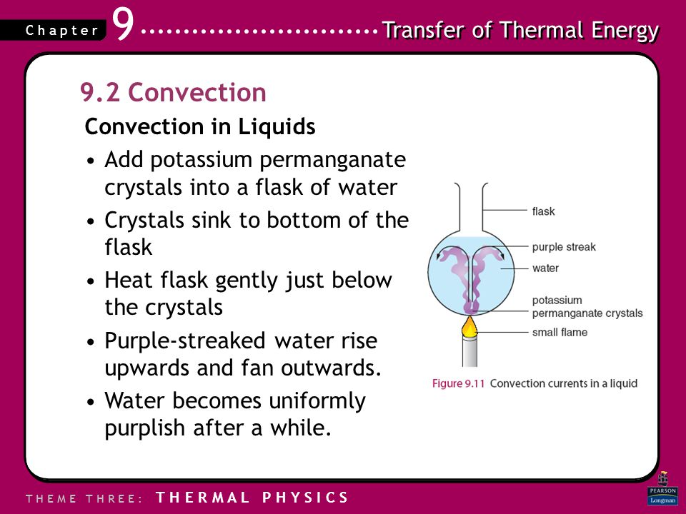 9.2 Convection Convection in Liquids