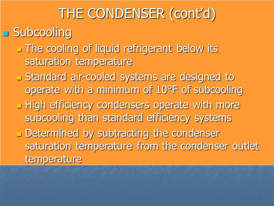 THE CONDENSER (cont'd)