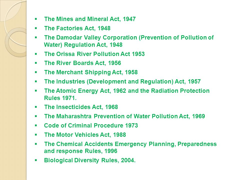 The Mines and Mineral Act, 1947