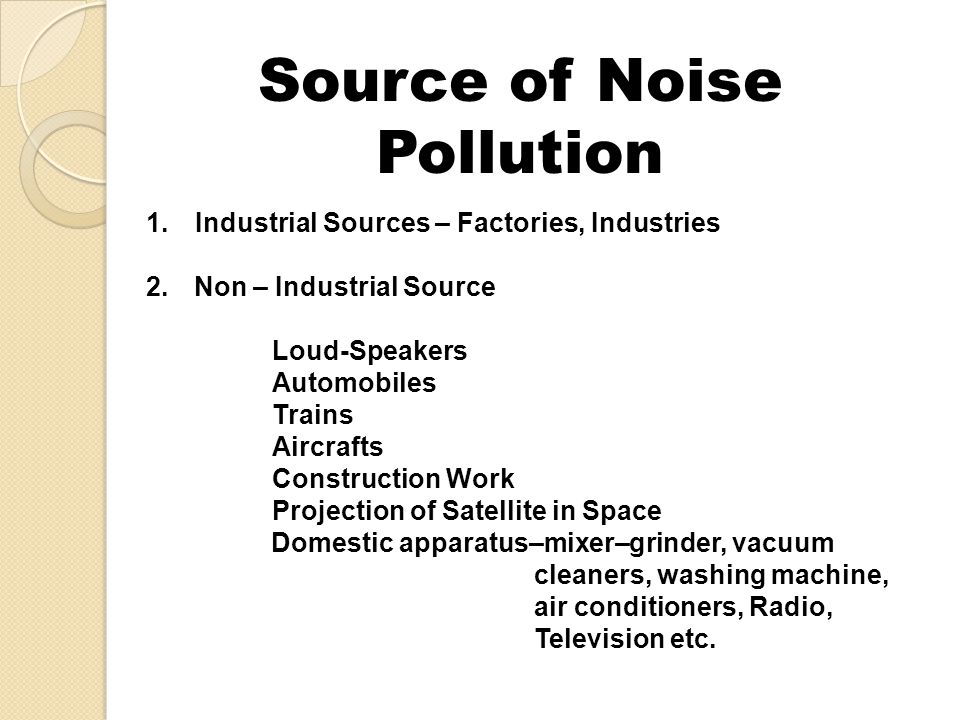 Source of Noise Pollution
