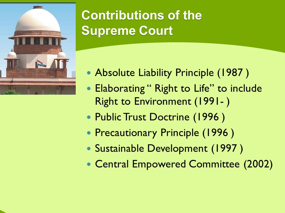 Contributions of the Supreme Court