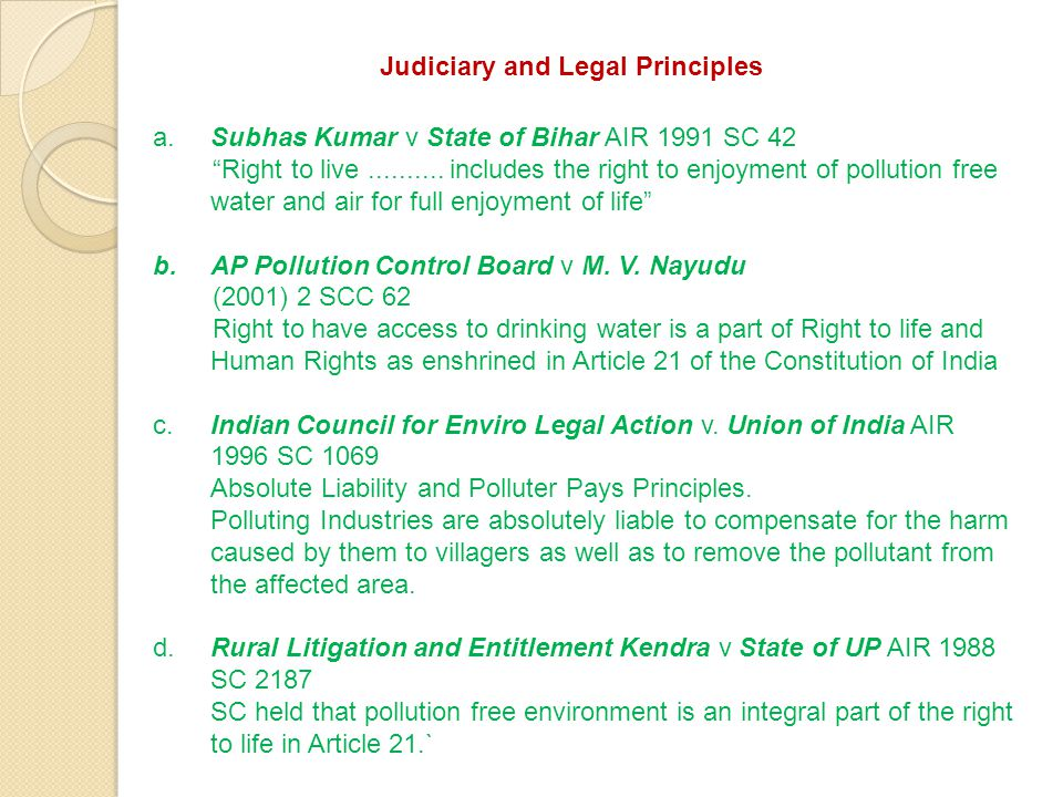 Judiciary and Legal Principles