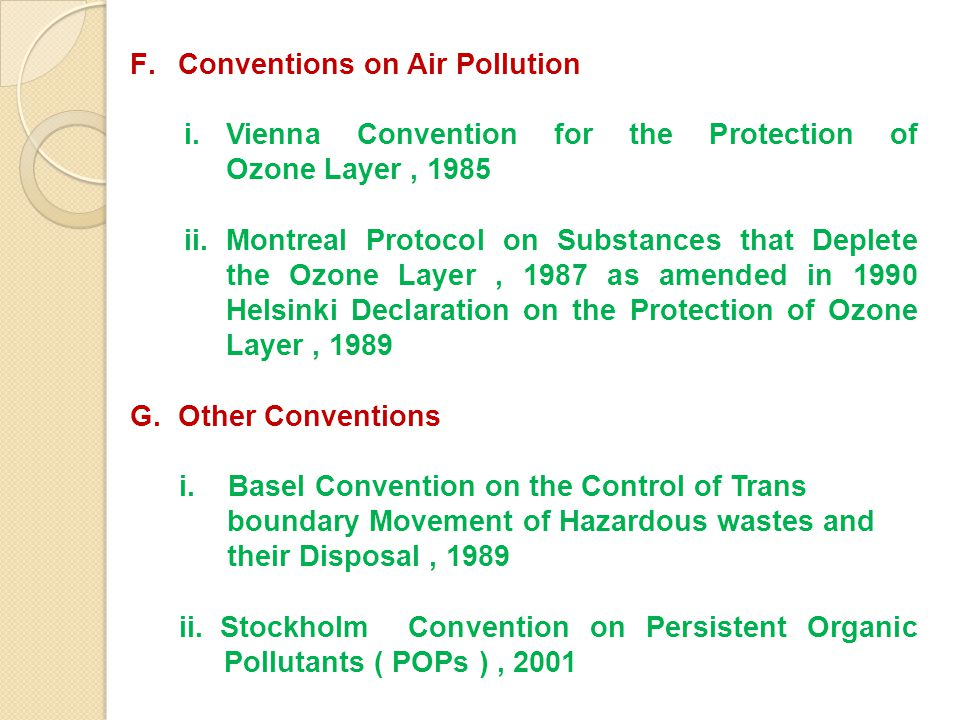 Conventions on Air Pollution