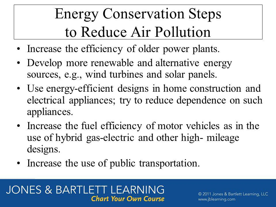 Energy Conservation Steps to Reduce Air Pollution