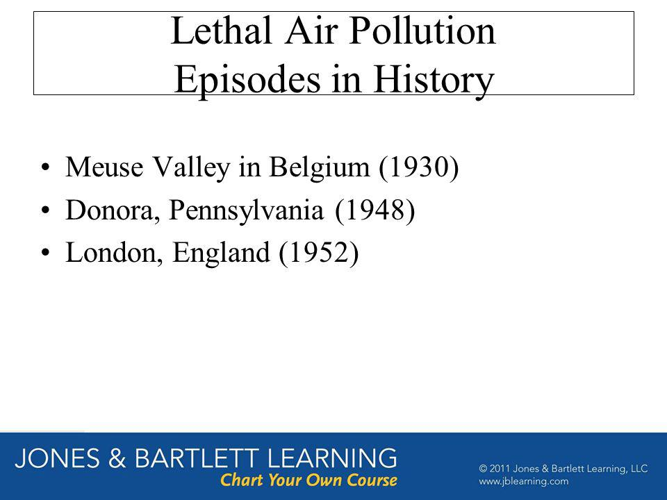 Lethal Air Pollution Episodes in History