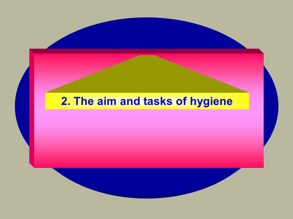 2. The aim and tasks of hygiene