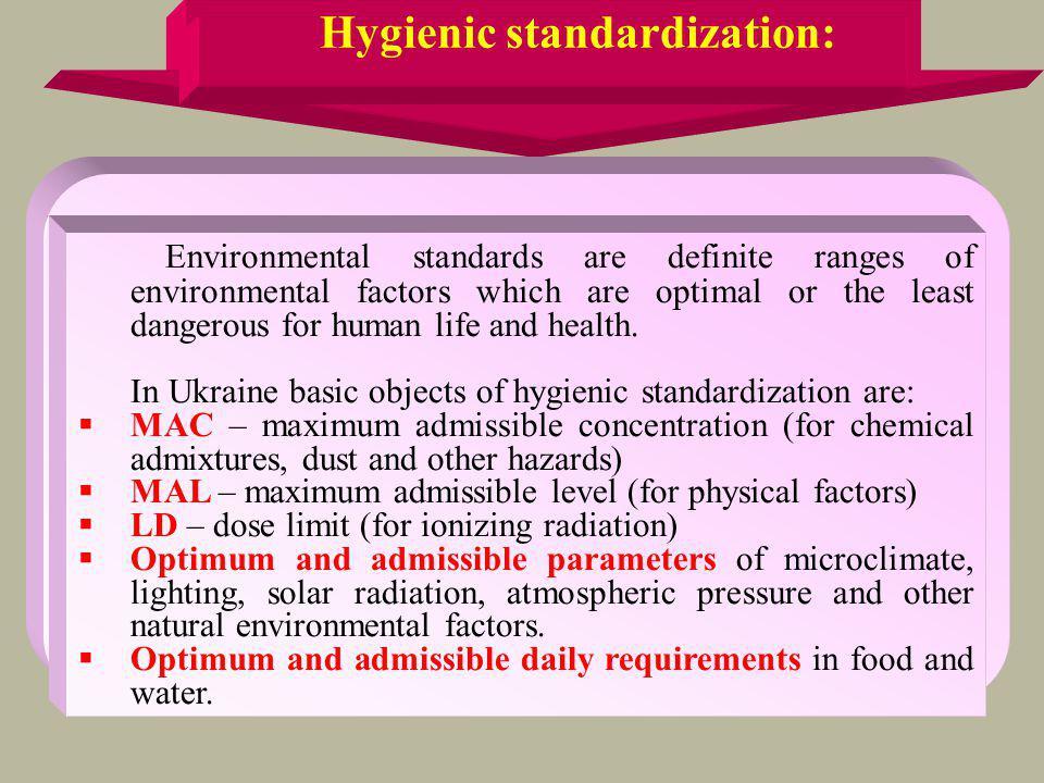 Hygienic standardization: