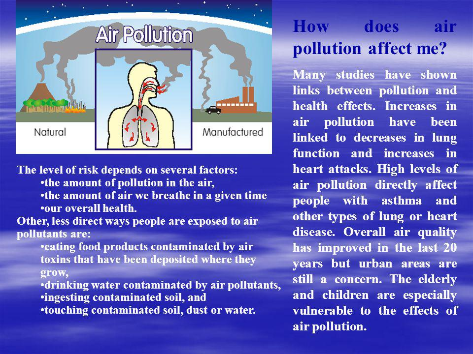 How does air pollution affect me