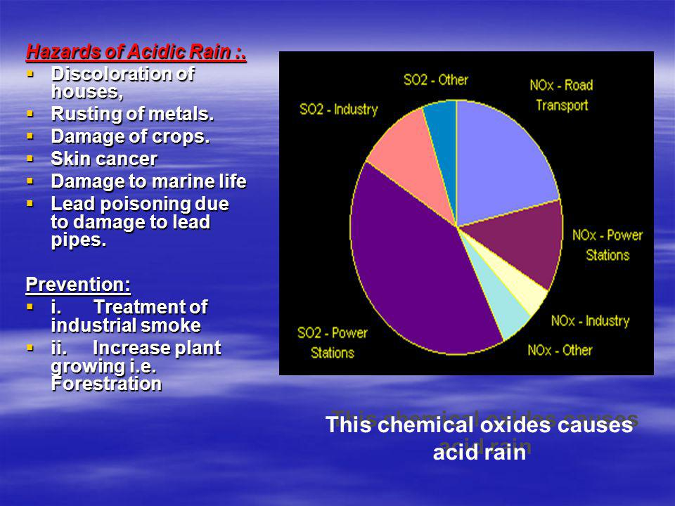 This chemical oxides causes acid rain