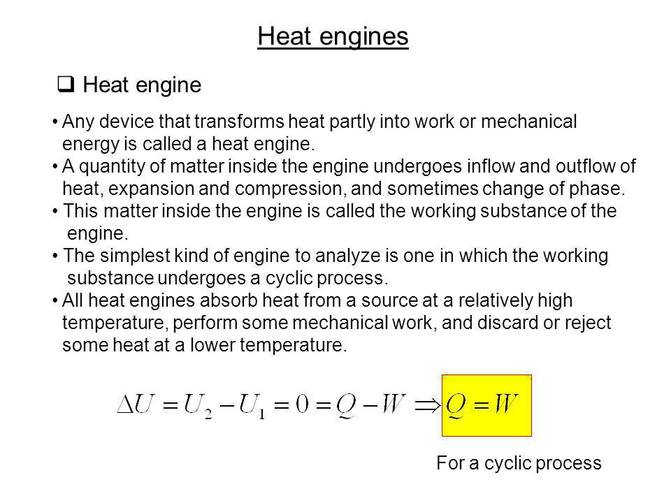 Heat engines Heat engine