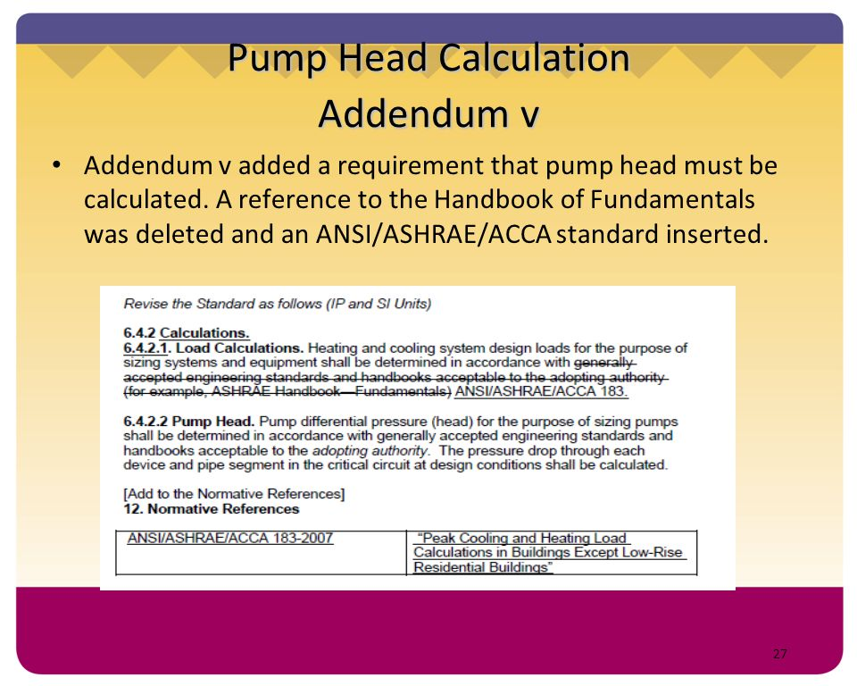 Pump Head Calculation Addendum v