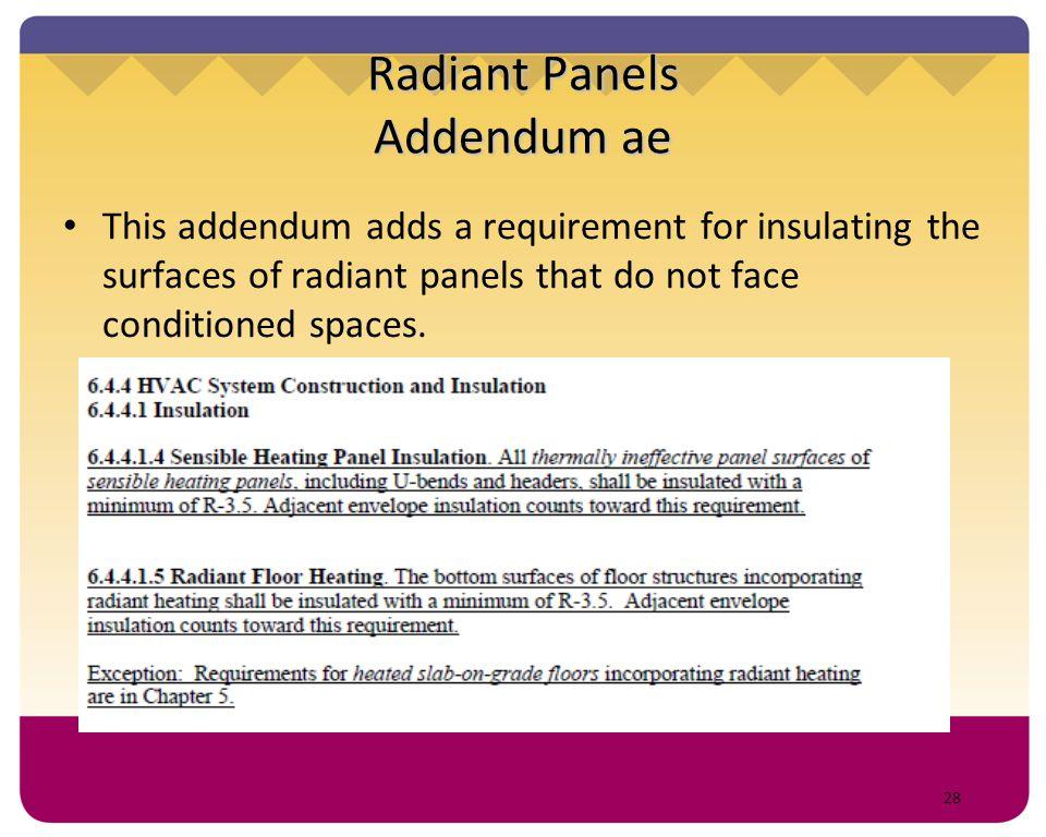 Radiant Panels Addendum ae
