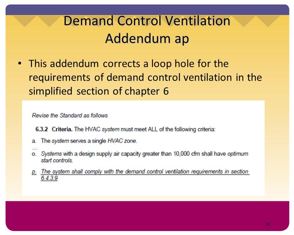Demand Control Ventilation Addendum ap