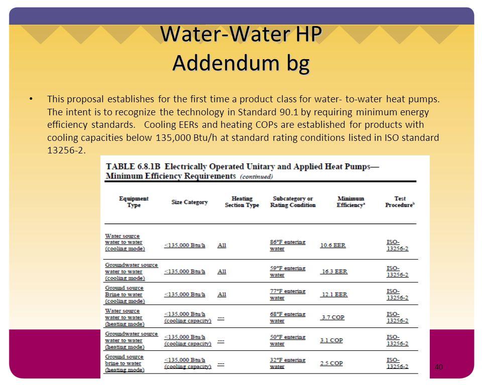 Water-Water HP Addendum bg