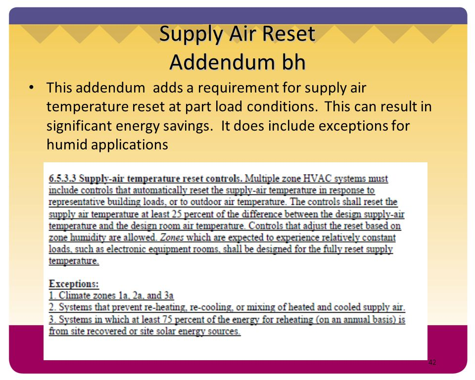 Supply Air Reset Addendum bh