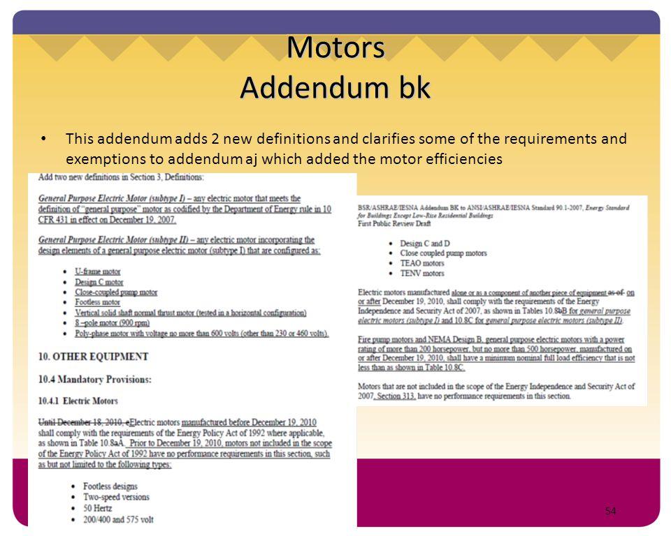 Motors Addendum bk
