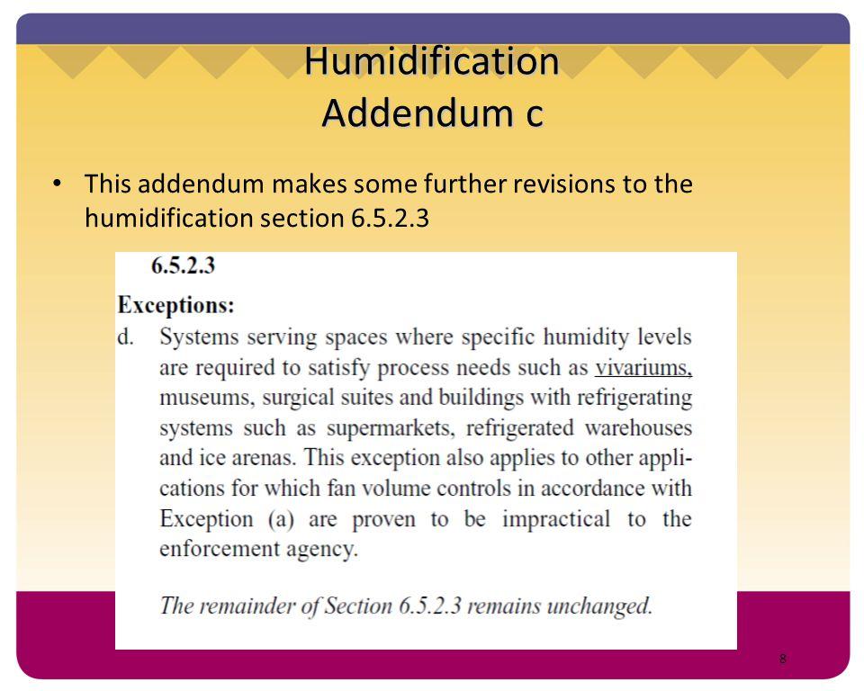 Humidification Addendum c