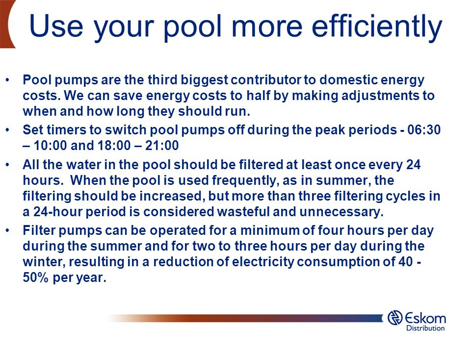 Use your pool more efficiently