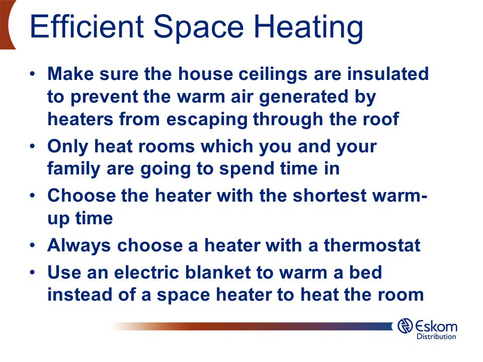 Efficient Space Heating