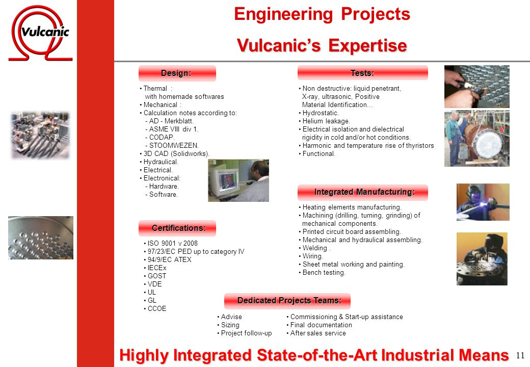 Engineering Projects Vulcanic's Expertise