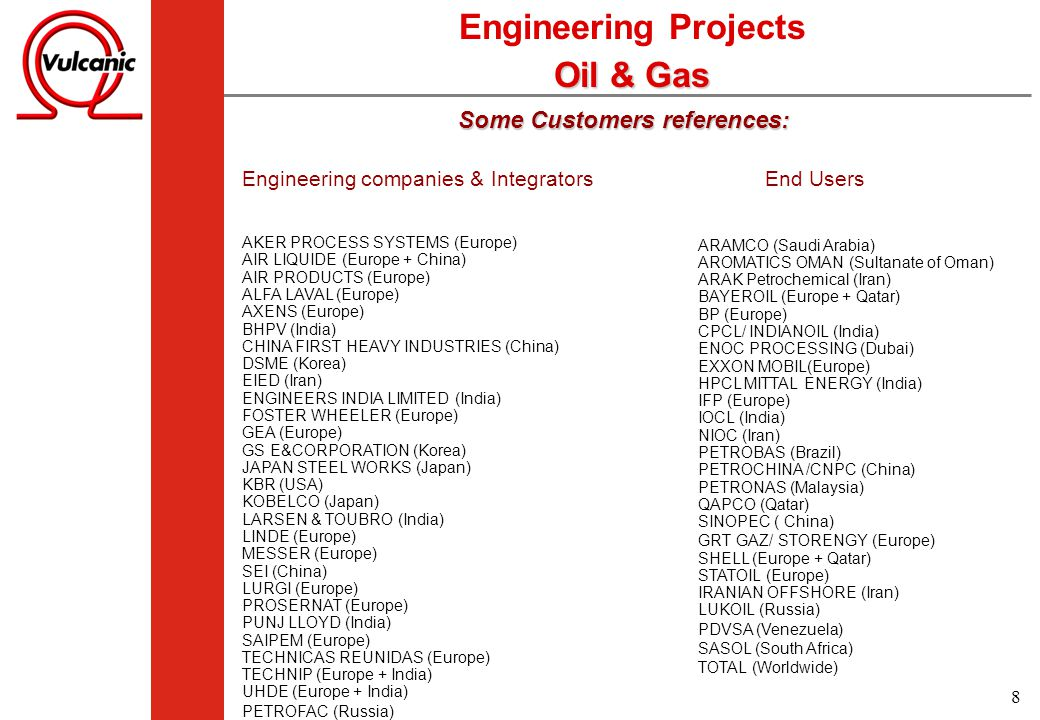 Engineering Projects Oil & Gas