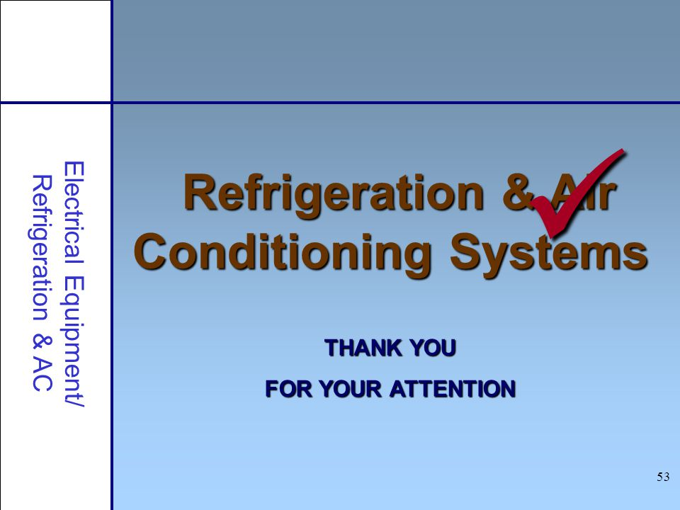 Refrigeration & Air Conditioning Systems