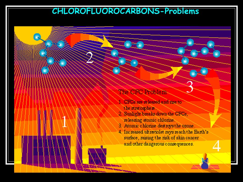 CHLOROFLUOROCARBONS-Problems