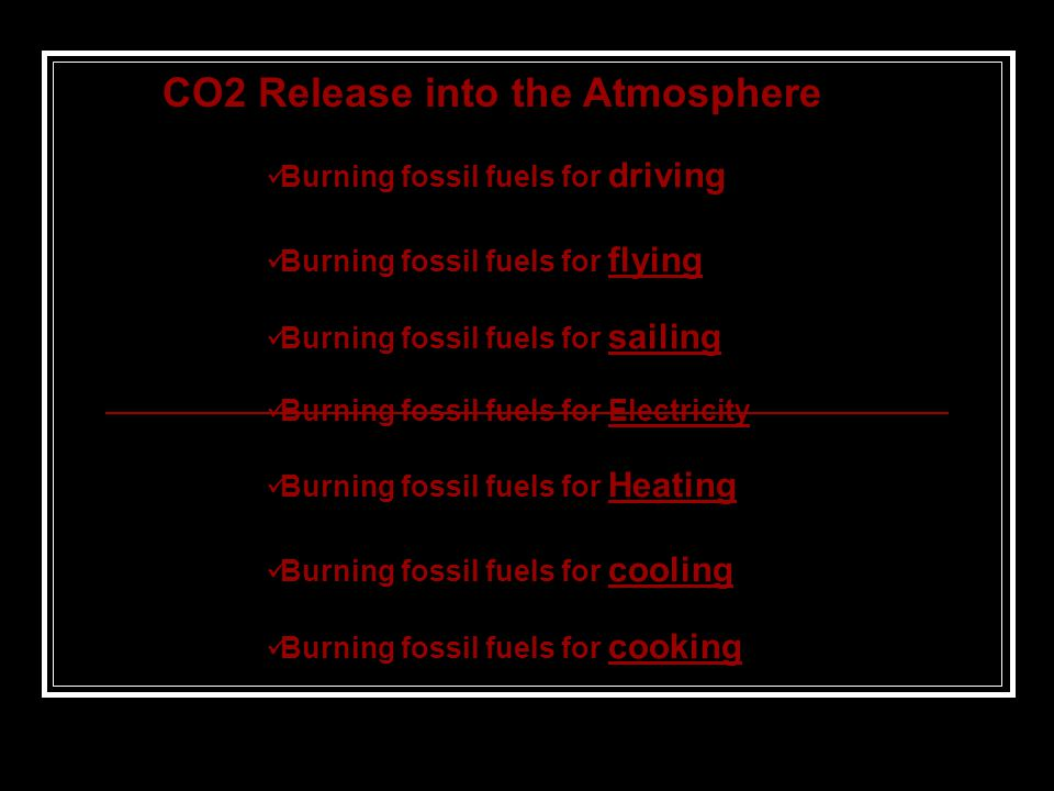 CO2 Release into the Atmosphere