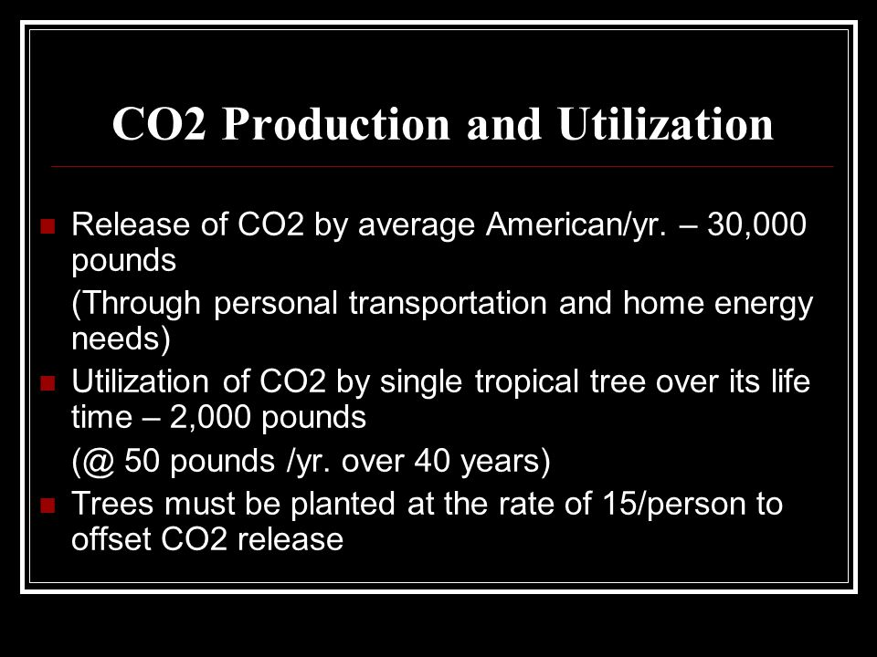 CO2 Production and Utilization