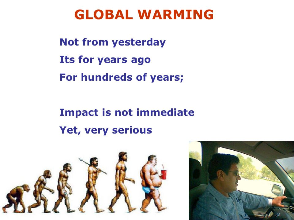 GLOBAL WARMING Not from yesterday Its for years ago