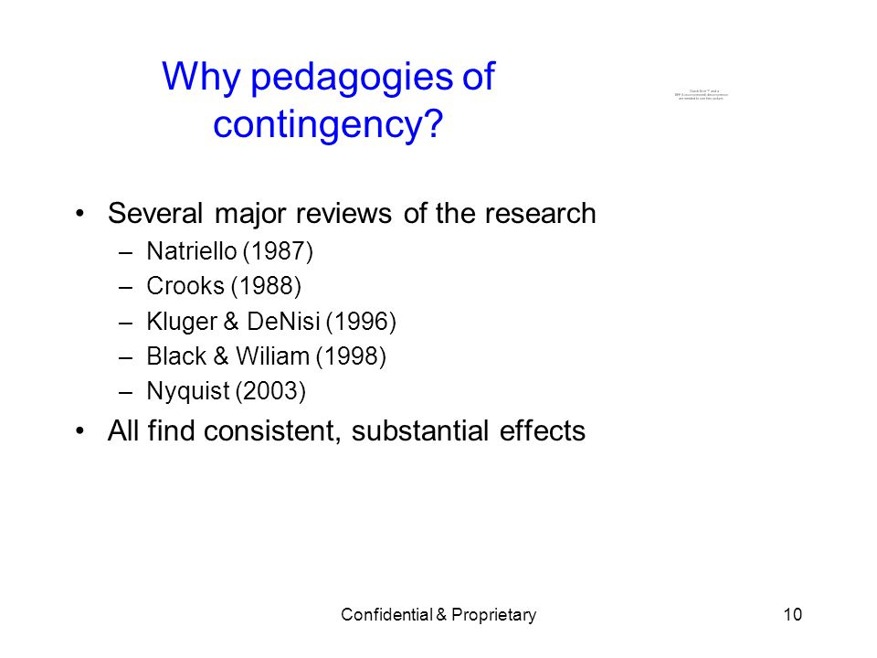 Why pedagogies of contingency