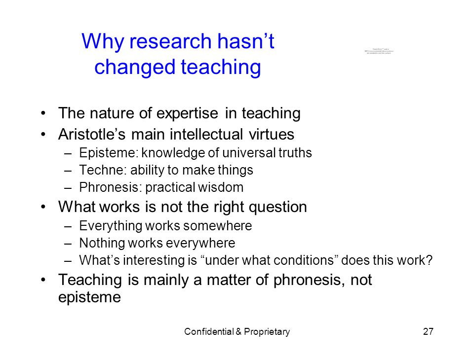 Why research hasn't changed teaching