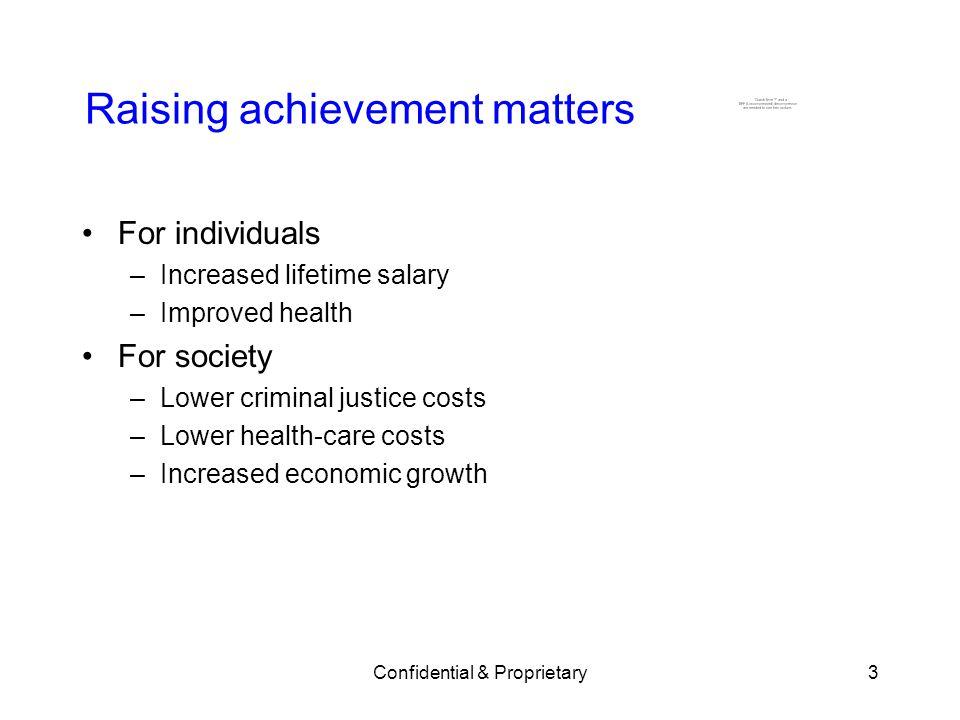 Raising achievement matters