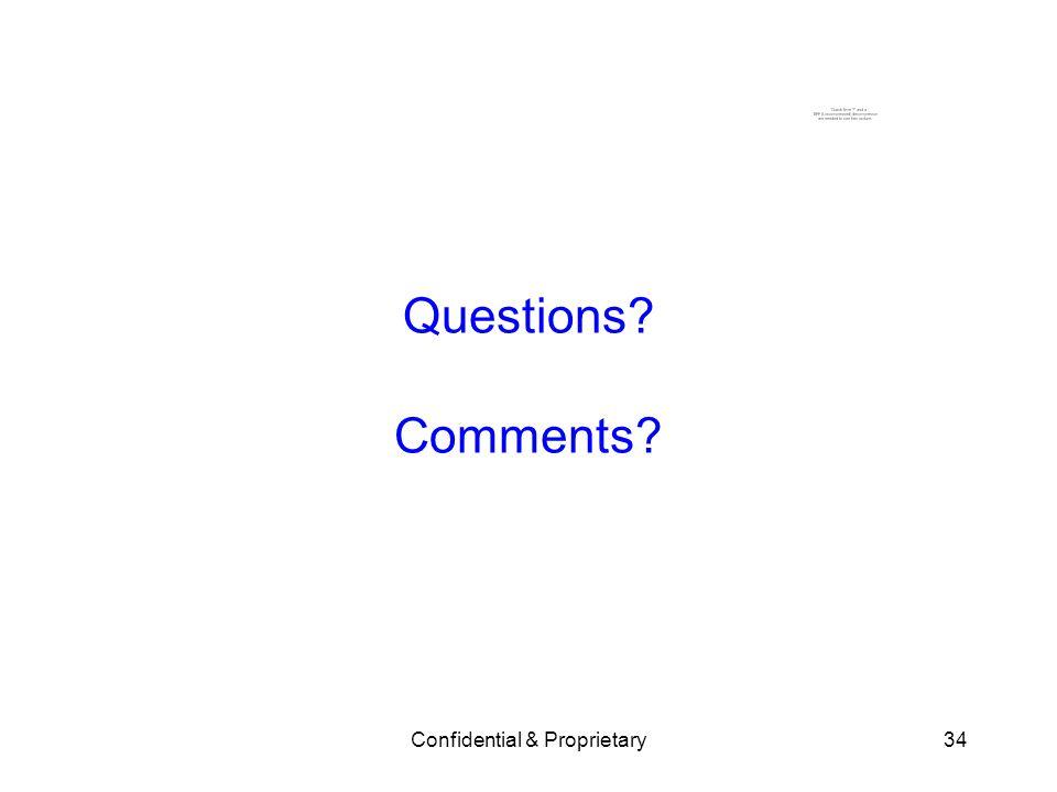 Confidential & Proprietary