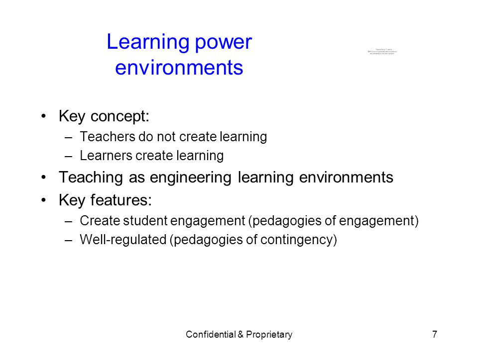 Learning power environments