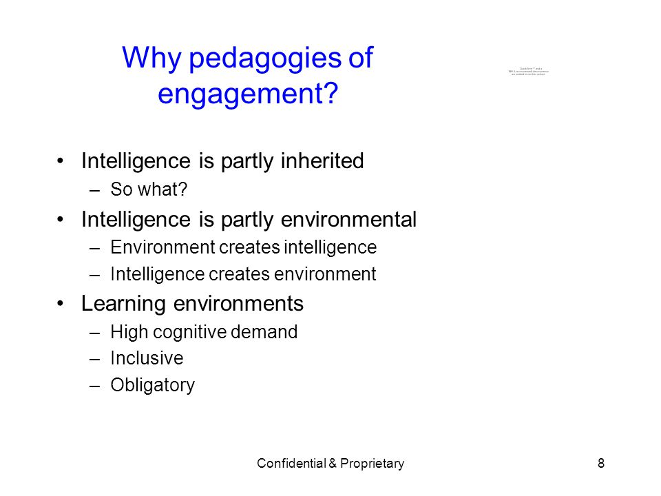 Why pedagogies of engagement