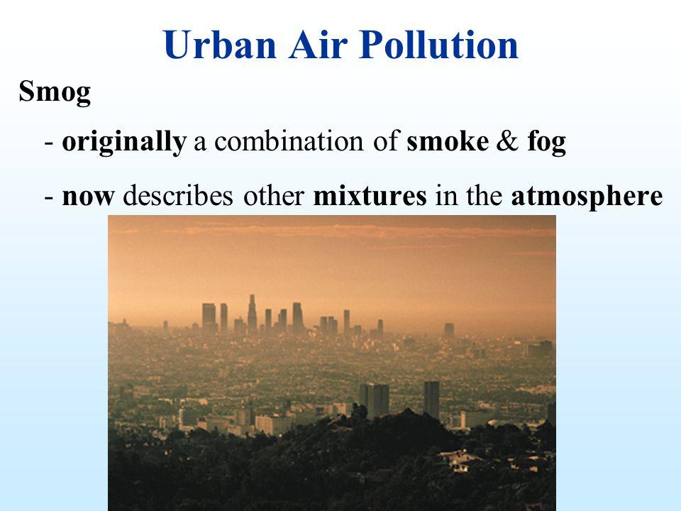 Urban Air Pollution Smog - originally a combination of smoke & fog