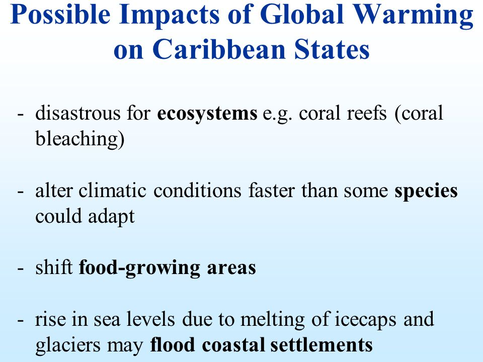 Possible Impacts of Global Warming on Caribbean States