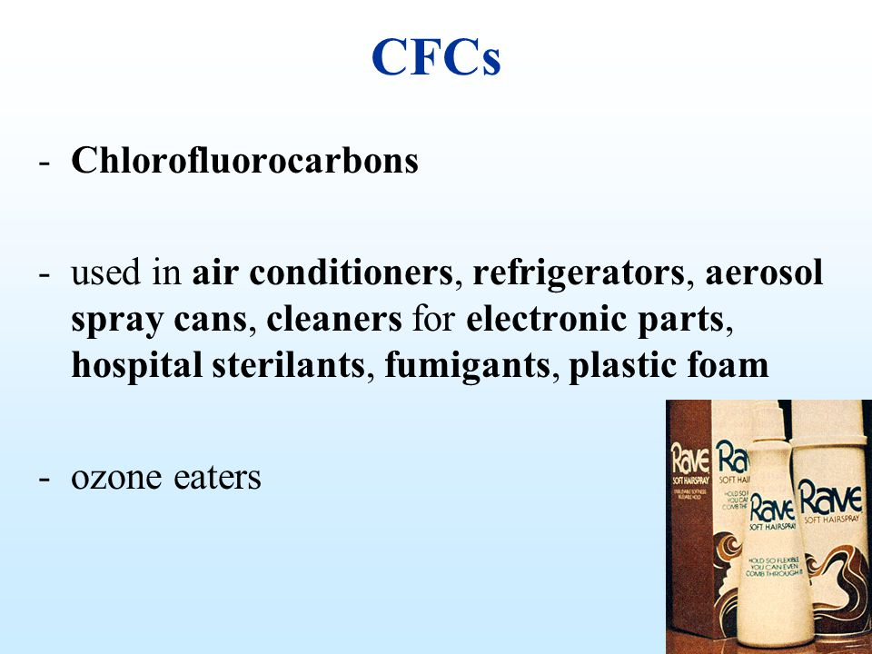 CFCs Chlorofluorocarbons