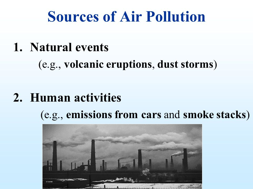 What Is the Difference Between Human & Natural Air Pollution?
