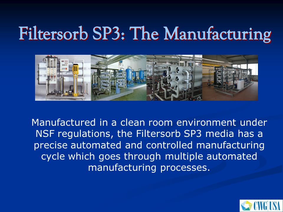 Filtersorb SP3: The Manufacturing