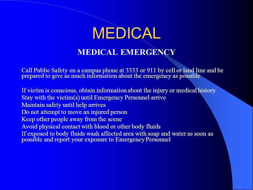 MEDICAL MEDICAL EMERGENCY