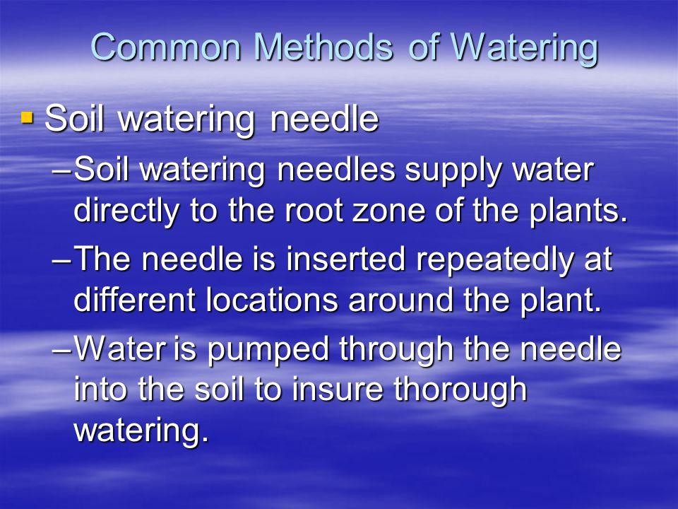 Common Methods of Watering