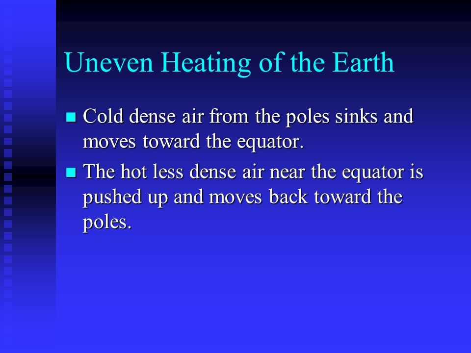 Uneven Heating of the Earth