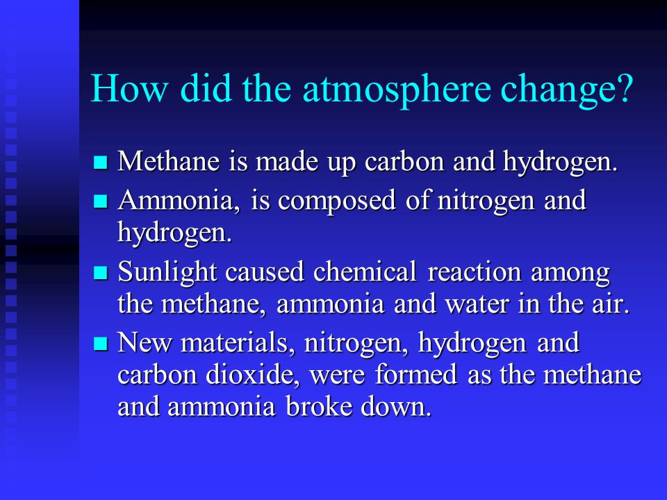How did the atmosphere change