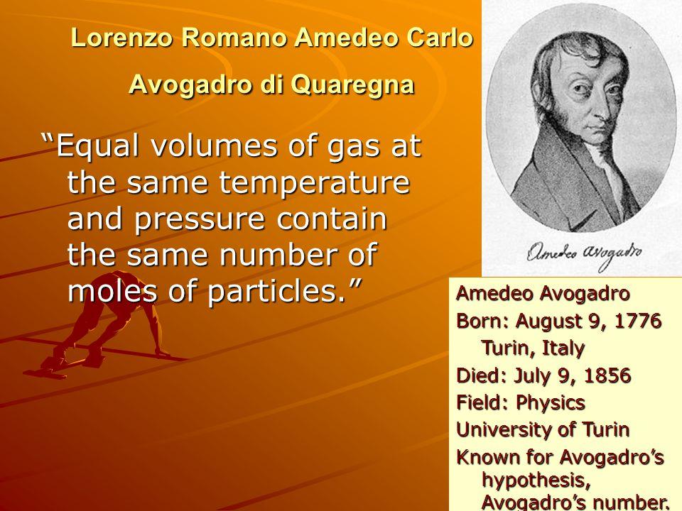 Lorenzo Romano Amedeo Carlo Avogadro di Quaregna