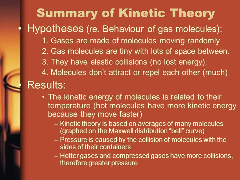 Summary of Kinetic Theory