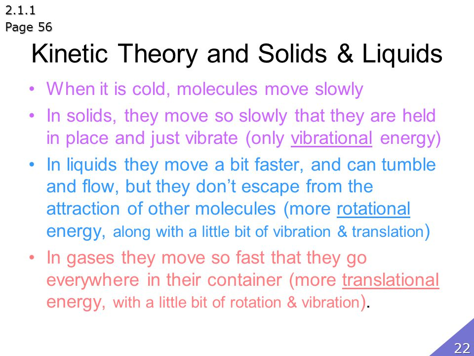 Kinetic Theory and Solids & Liquids